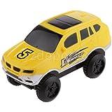DIY車モデルMini Electric Car Race Car Toy Vehicle Kids Toyギフトイエロー