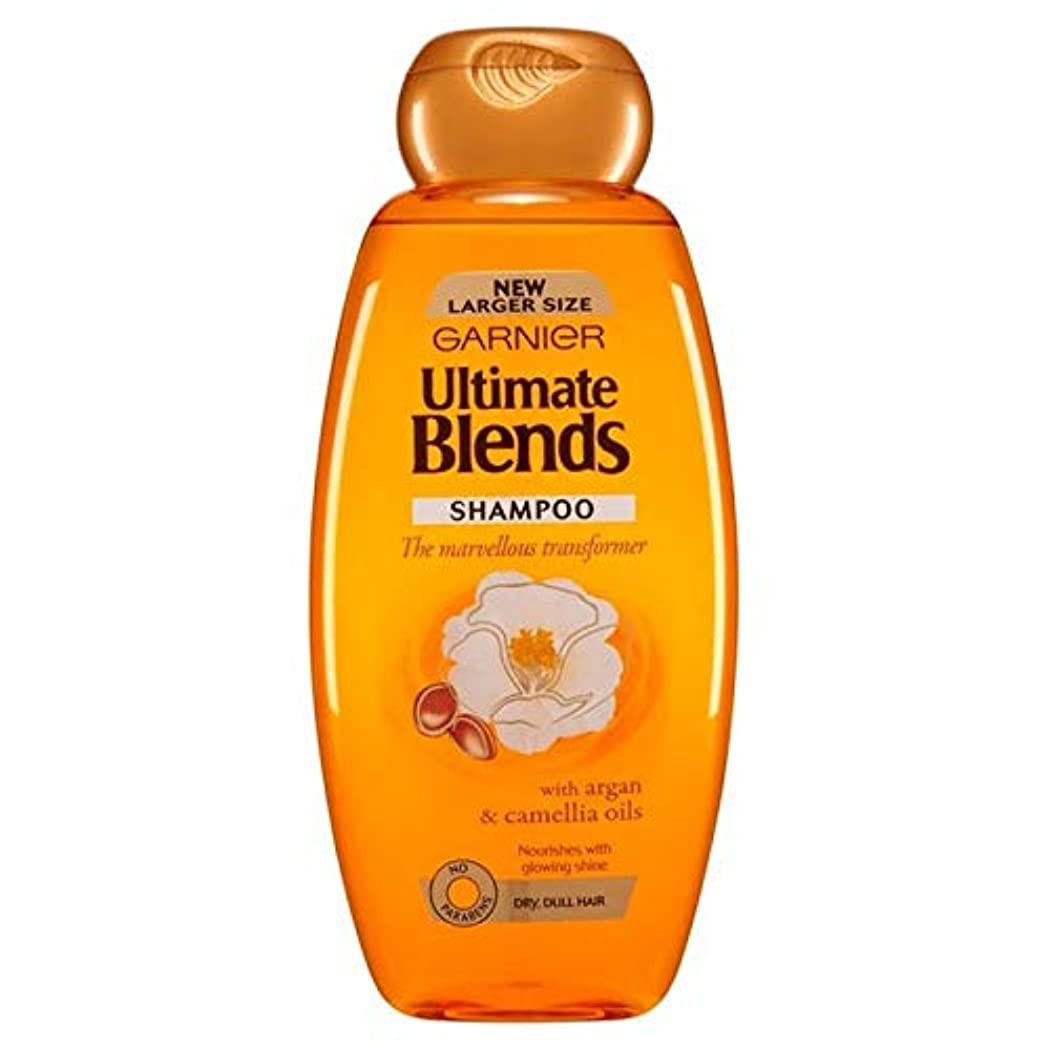 不健全注目すべき後[Garnier ] ガルニエ究極は、アルガンオイルつやのある髪シャンプー600ミリリットルをブレンド - Garnier Ultimate Blends Argan Oil Shiny Hair Shampoo 600ml [並行輸入品]