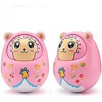 KEANER 新生児 乳児 ロールポリ おもちゃ 秋 抵抗 ラトル 人形 オーナメント サウンドタンブラー 教育玩具 (ピンク)