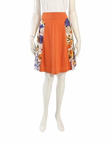 (ヴィヴィアンタム) VIVIENNE TAM スカート 花柄 レーヨン オレンジ 白 マルチカラー 中古