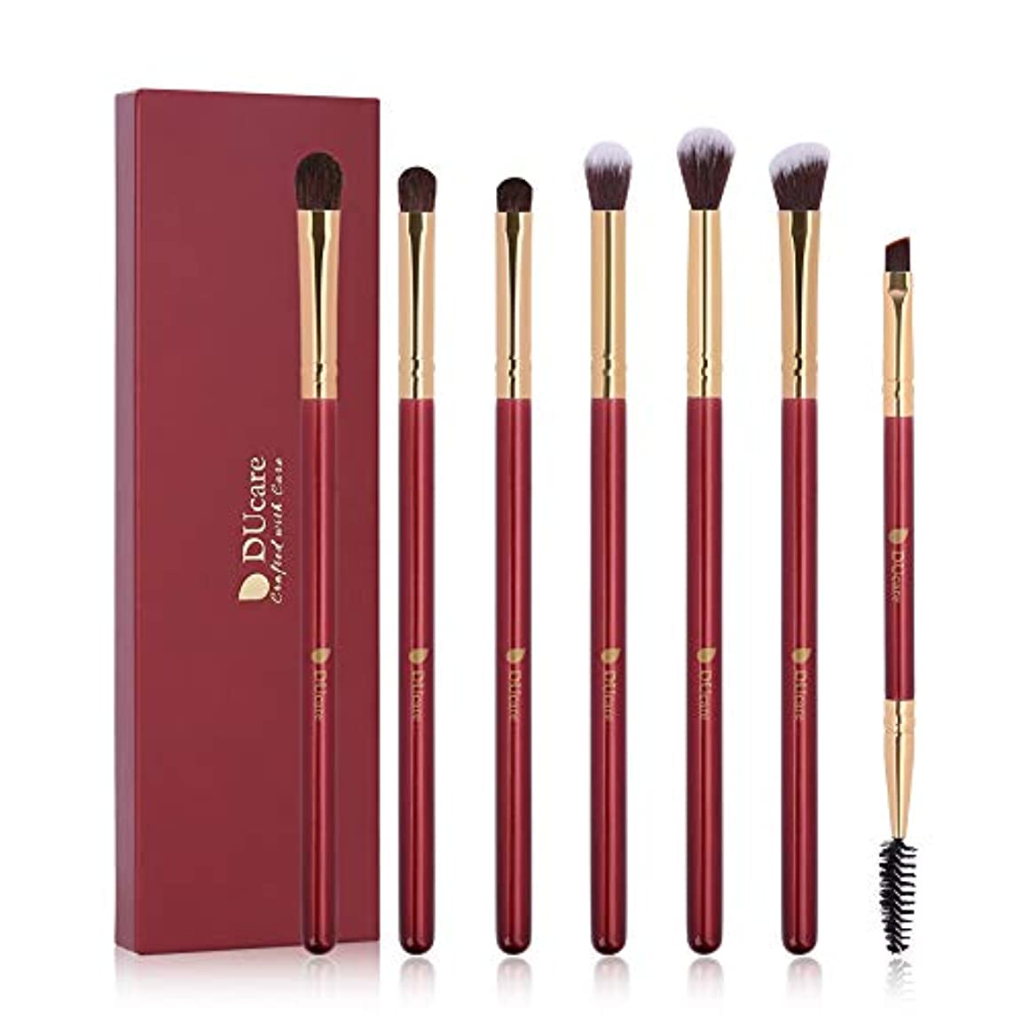 DUcare ドゥケア 化粧筆 プチプラアイシャドウブラシ 7本セット 高級天然毛を使用肌当たりも仕上がりも極上を実感