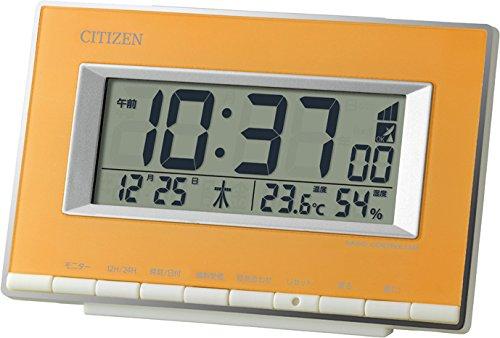 CITIZEN(リズム時計) カラフル電波デジタル時計 パルデジットエース 黄色 8RZ133-033