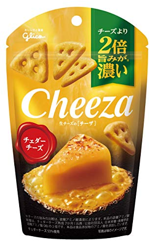 江崎グリコ 生チーズのチーザ チェダーチーズ 40g×10個 おつまみチーズ ワインに合う スナック菓子