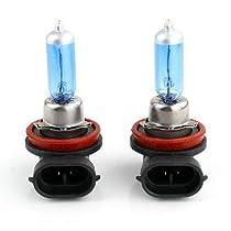 高品質。2個h8ロングライフハロゲン自動車電球ランプ6000K 12V 35W新しい