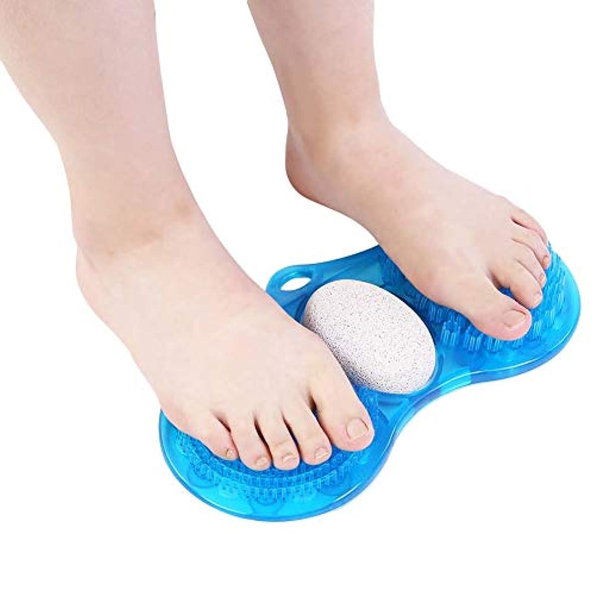 ほのめかす強制的足首足洗いブラシ フットブラシ バスマット 角質除去 マッサージ 血行促進 吸盤付き マット ブラシ お風呂 足洗い用 フットケア ミニ