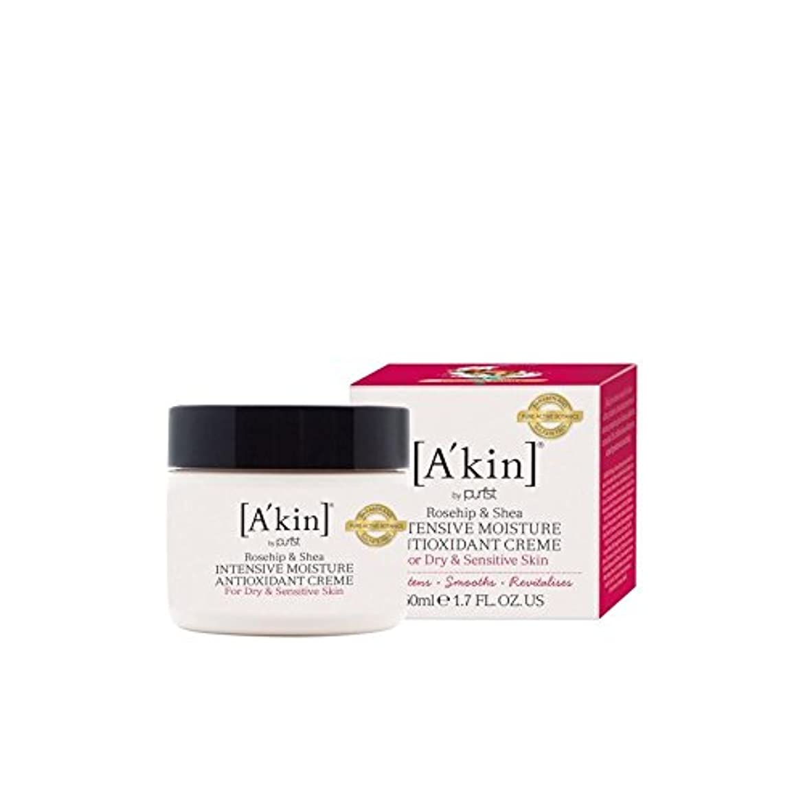 A'Kin Rosehip & Shea Intensive Moisture Anti-Oxidant Complex (50ml) (Pack of 6) - のローズヒップ&シアバター集中的な水分抗酸化コンプレックス...