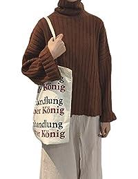 (S.W.グロッシィ) S.W.Grossy レディース ゆったり タートルネック プルオーバー セーター
