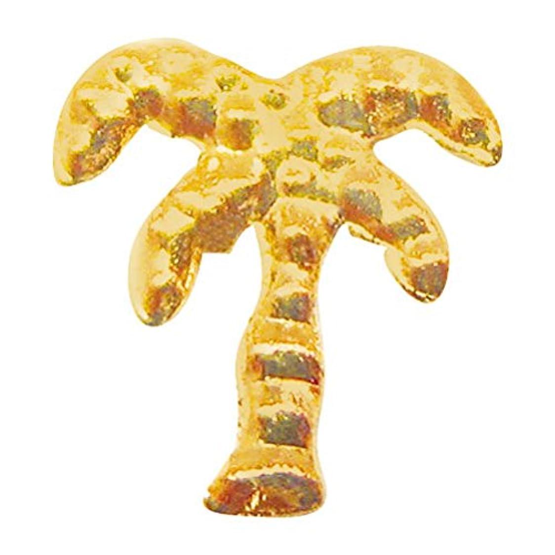 兵士顕微鏡平らにするサンシャインベビー ジェルネイル ヤシの木(ゴールド) 10P