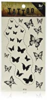 SPESTYLE waterproof non-toxic temporary tattoo stickersnew design black butterflies temporary temporary tattoos by SPESTYLE [並行輸入品]