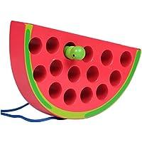 幼児期のゲーム 幼児教育玩具昆虫食べるフルーツスレッディングゲーム(スイカ)
