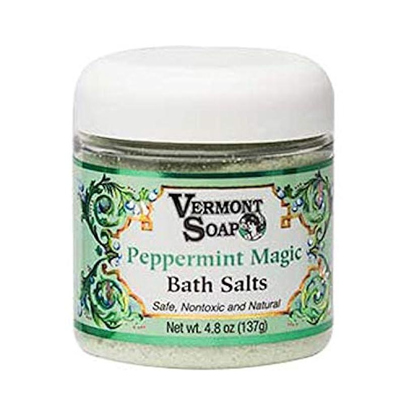 浸す色合い農業バーモントソープ バスソルト (ペパーミントマジック) オーガニック 入浴剤 浴用化粧品 137g