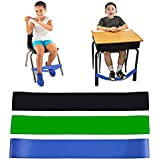 Pack of 3 Chair Bands for Kids with Fidgety Feet Fidget Bands for Kids with Sensory ADHD ADD SPD Autism Sensory Needs Natural