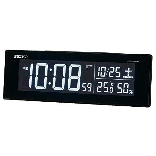 セイコー クロック 目覚まし時計 電波 デジタル 交流式 カラー液晶 シリーズC3 黒 DL305K SEIKO