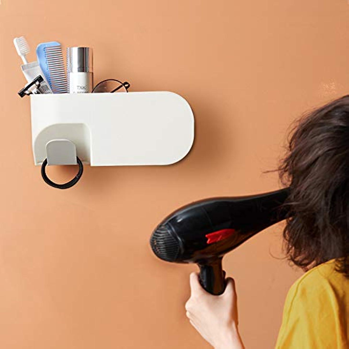 クスクス自動的にタワーJanusSajaパンチフリーパワフルサクションカップヘアドライヤー多機能バスルームラックホルダーバスルームアクセサリー
