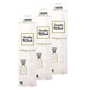 【まとめ買い】サワデー香るスティック 消臭芳香剤 詰め替え用 パルファムブラン 70ml×3個
