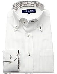 (ブルーム) BLOOM オリジナル 長袖 ワイシャツ 定番 S/M/L/LL/3L/4L/5L/6L 10柄 形態安定加工 ドゥエボットーニ ボタンダウン