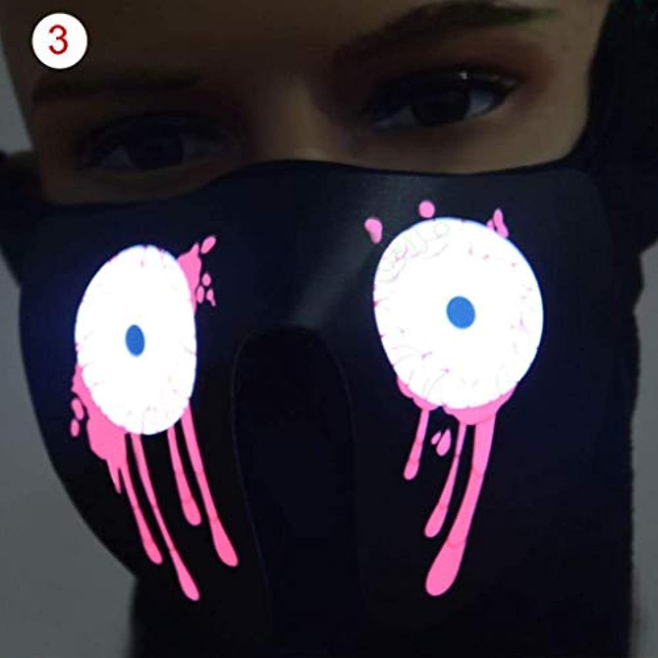 ハロウィーン新年パーティーネックフードのフェイスマスク (Color : 5)