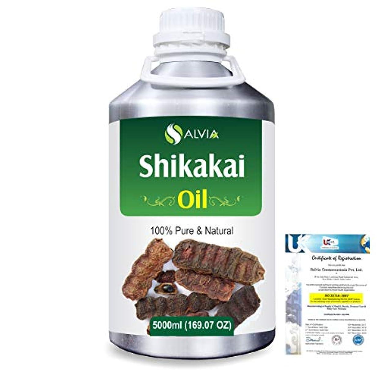 論理的ブラウス吐き出すShikakai (Acacia concinna) 100% Natural Pure Oil 5000ml/169fl.oz.