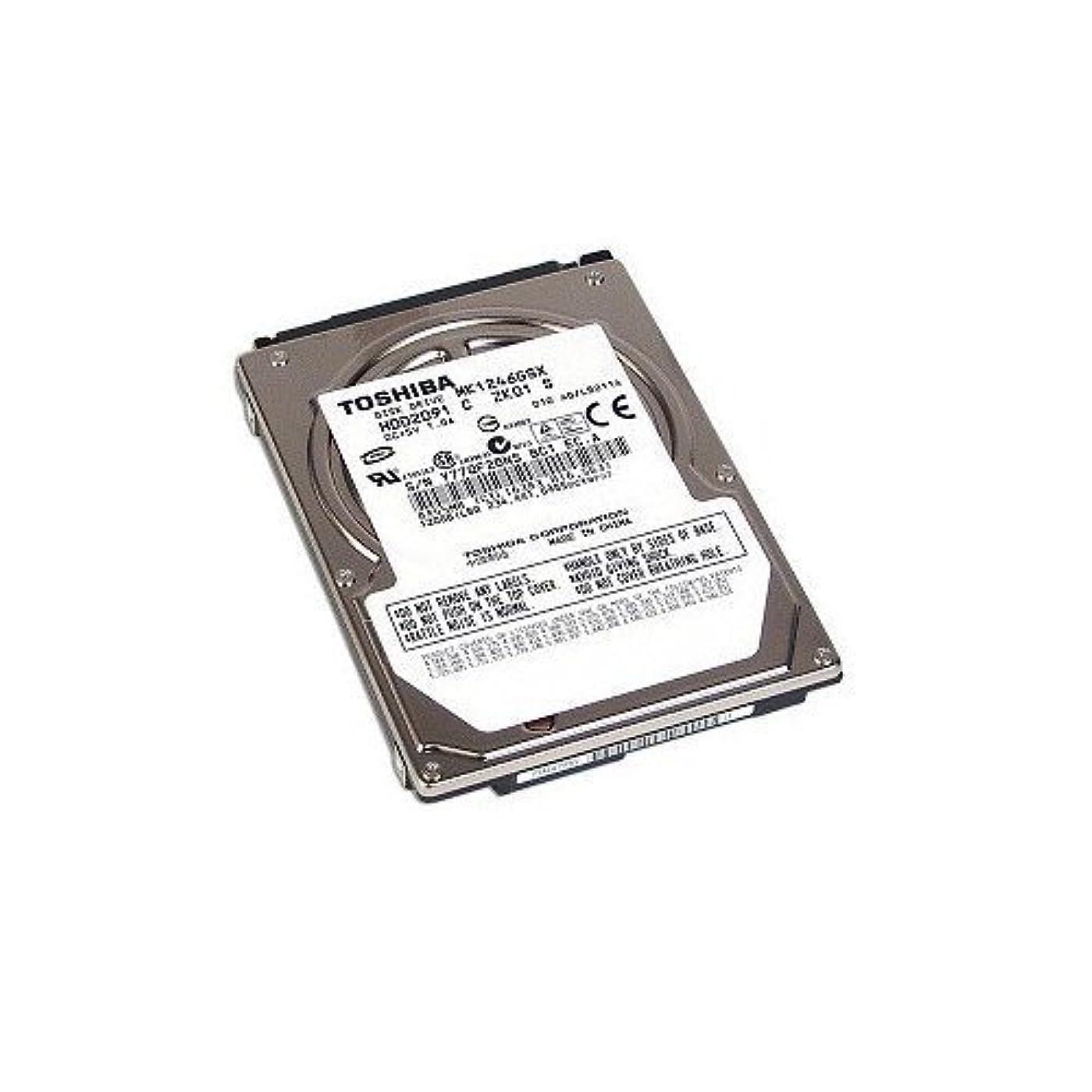ポップ入学する促す東芝 MK1246GSX 2.5 インチ 120 GB 内蔵 HDD ノートブック (HDD2D91)。