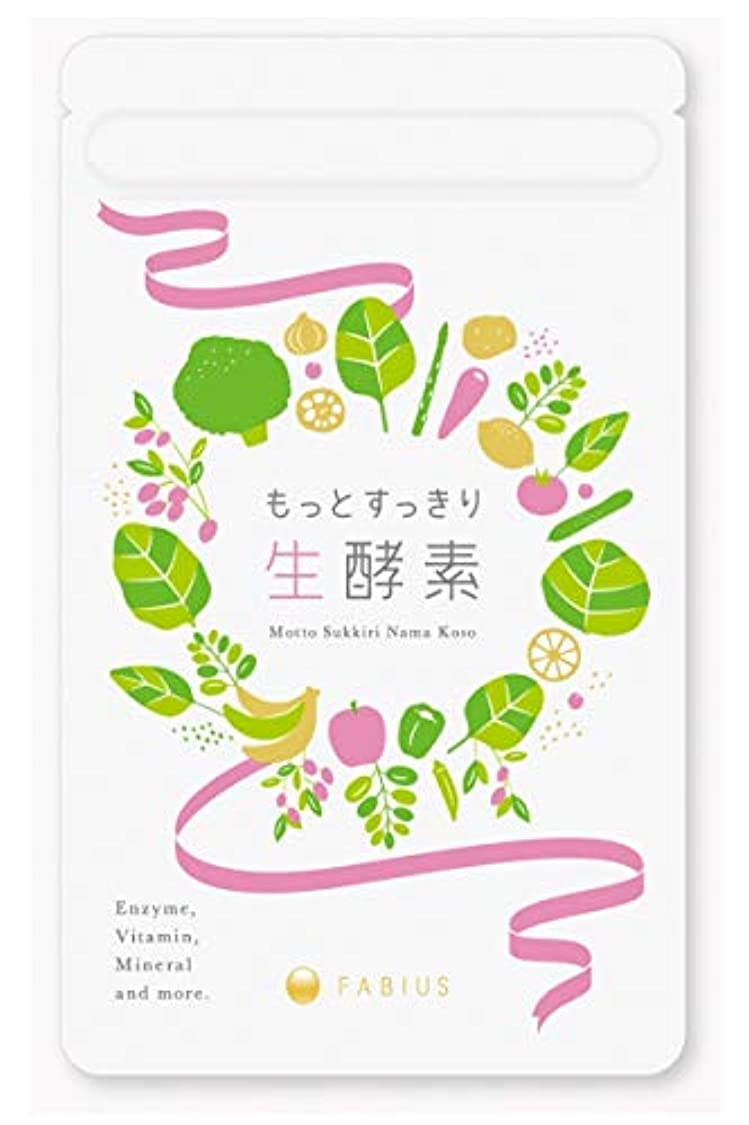 栄養受け皿トロイの木馬FABIUS もっとすっきり 生酵素 酵素 サプリ ダイエット 1ヶ月62粒分 日本製 【初回お試し価格有】