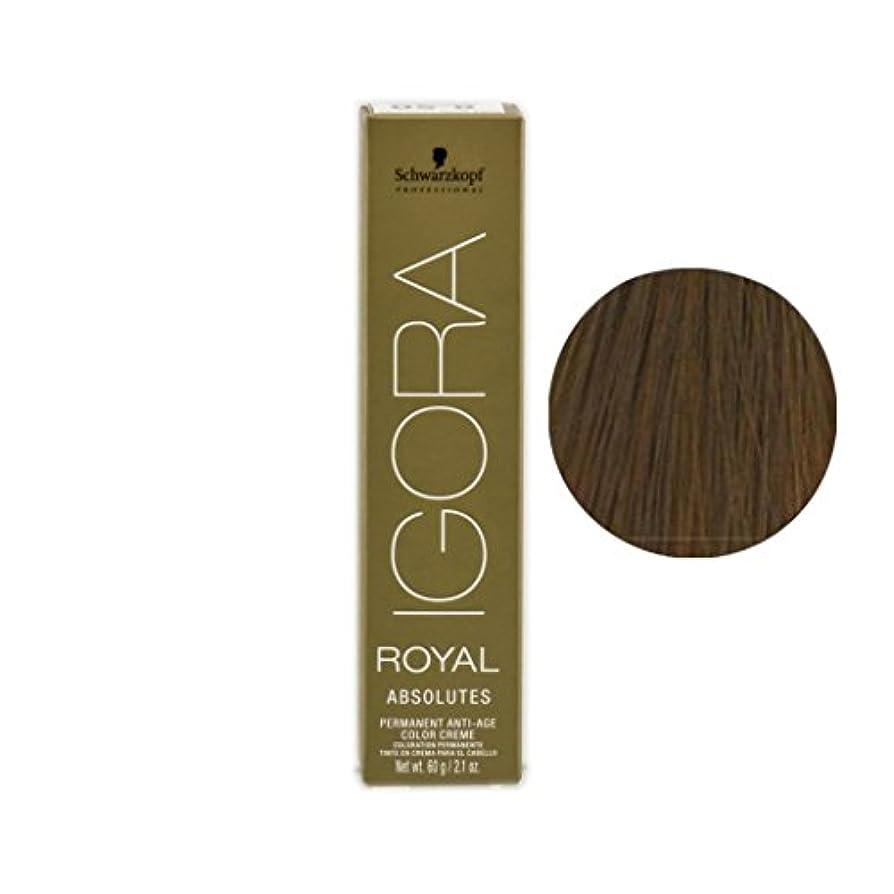 襲撃好き一緒にSchwarzkopf プロフェッショナルIGORAロイヤルアブソリュート髪の色、 9-56、エクストラライトブロンドゴールドチョコレート