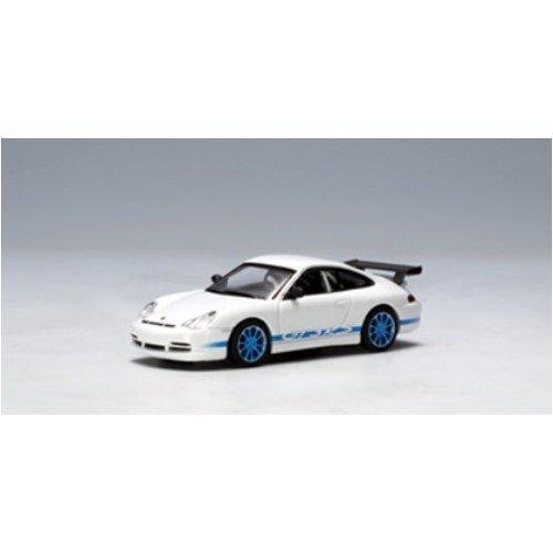 AUTOart 1/64 ポルシェ 911 (996) '04 GT3 RS (ホワイト・ブルーストライプ) 完成品