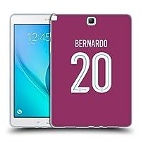 オフィシャルManchester City Man City FC Bernardo Silva 2017/18 プレイヤーズ・アウェーキット グループ1 Samsung Galaxy Tab A 9.7 専用ソフトジェルケース