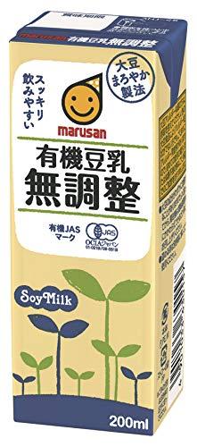 マルサン 有機豆乳無調整 200ml×24本