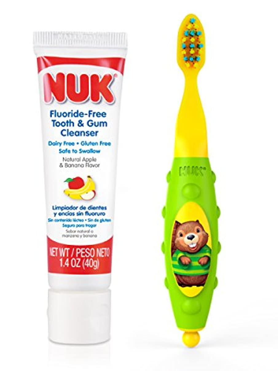 人里離れた誘発する予測するNUK Toddler Tooth and Gum Cleanser, 1.4 Ounce, (Colors May Vary) by NUK [並行輸入品]