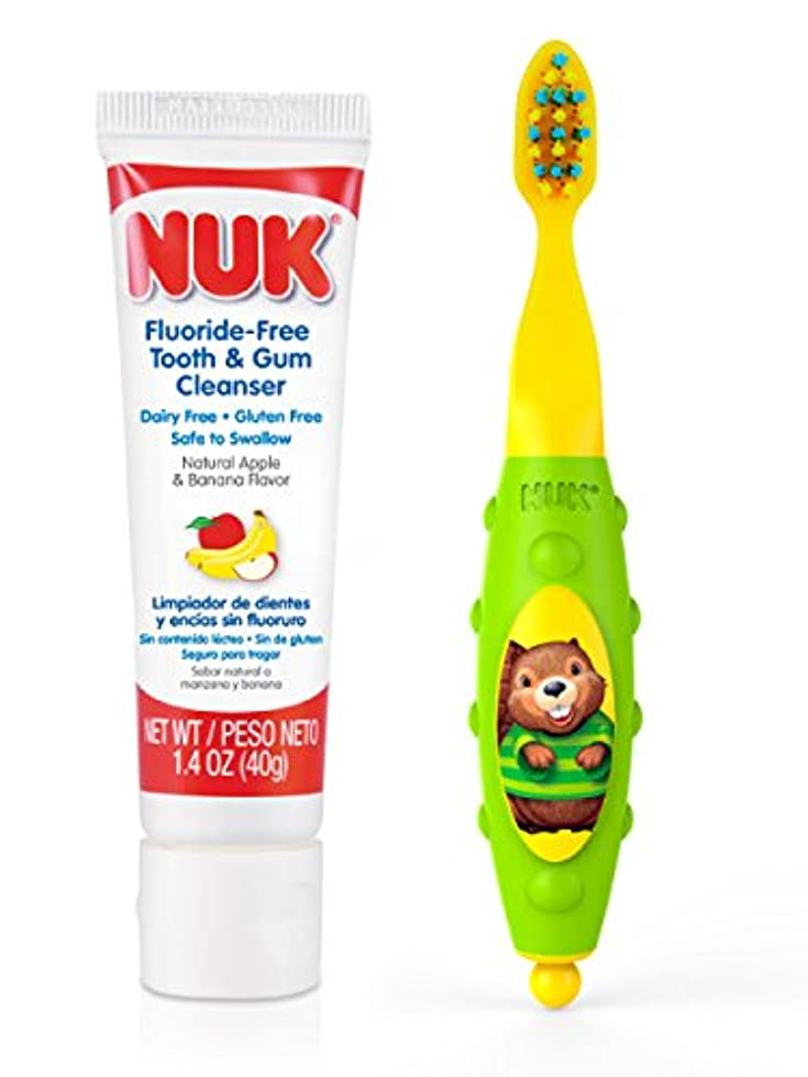 カラス感染する鎮静剤NUK Toddler Tooth and Gum Cleanser, 1.4 Ounce, (Colors May Vary) by NUK [並行輸入品]