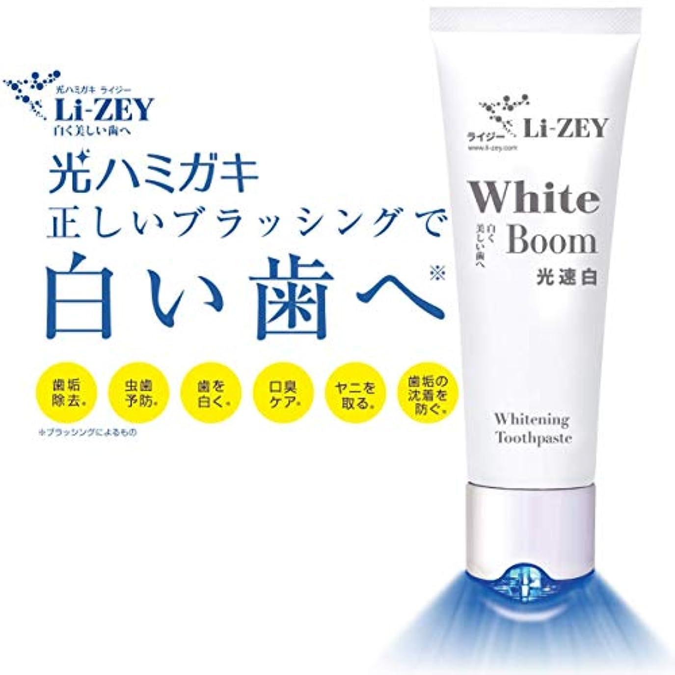 【光ハミガキ】ライジーLi-ZEY 光速白トゥースペースト 白い歯 【ホワイトニング】口臭?虫歯予防