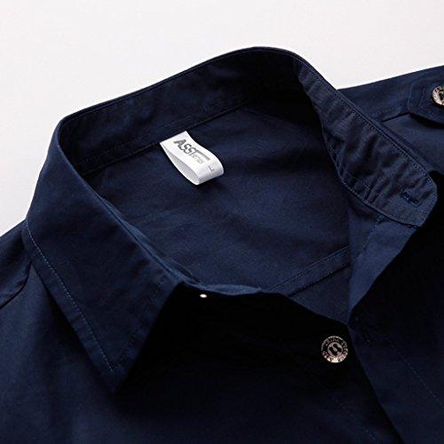 メンズ 半袖 シャツ 夏服 カジュアル MA-1 刺繍 シャツ 襟付き 大きいサイズ (XXXL, ミリタリーグリーン)