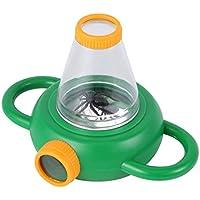 知育玩具 優れた双方向バグ昆虫観察ビューア子供のおもちゃの拡大鏡拡大鏡の子供の教育玩具 緑