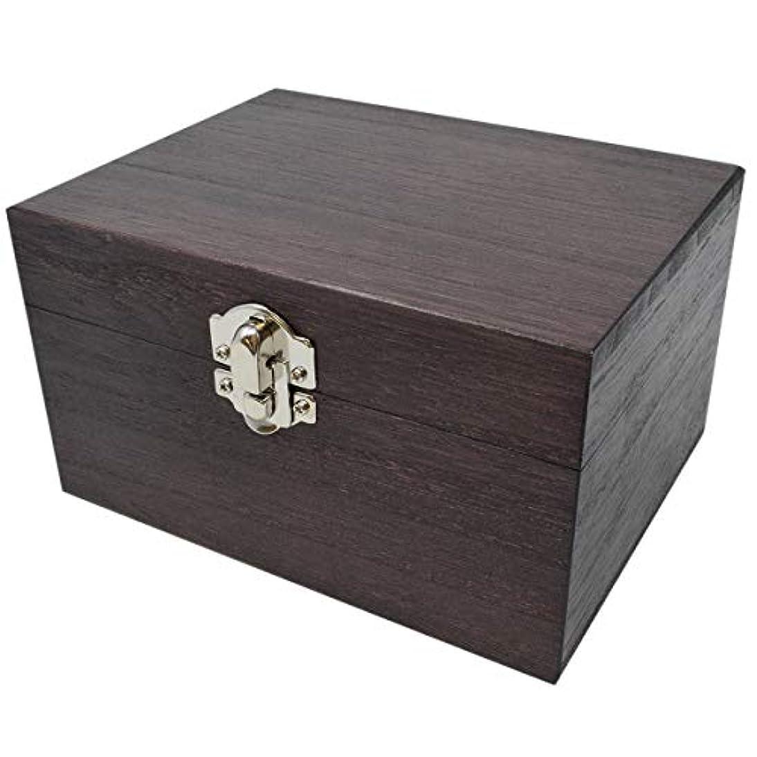 真鍮理容師郊外ケンソー オイルボックス (小) 桐製 12本収納 ※取っ手なし (健草医学舎 オイルボックス)