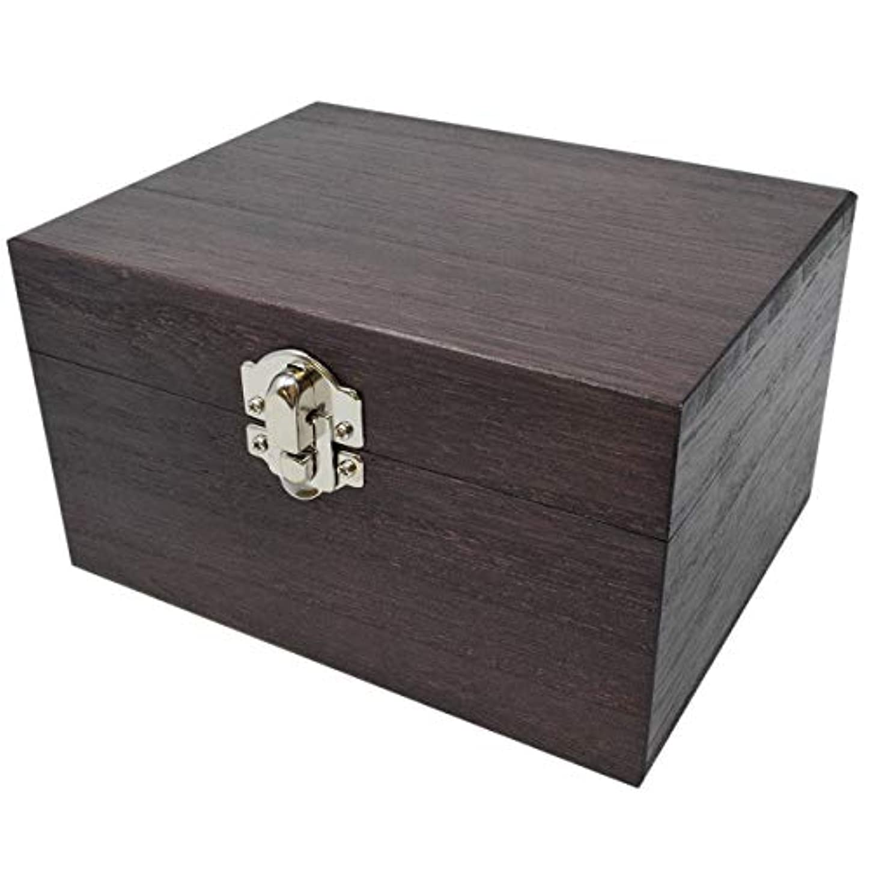 成功したフォーマル介入するケンソー オイルボックス (小) 桐製 12本収納 ※取っ手なし (健草医学舎 オイルボックス)