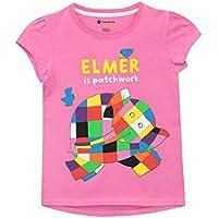 Elmer The Patchwork Elephant Girls T-Shirt Pink