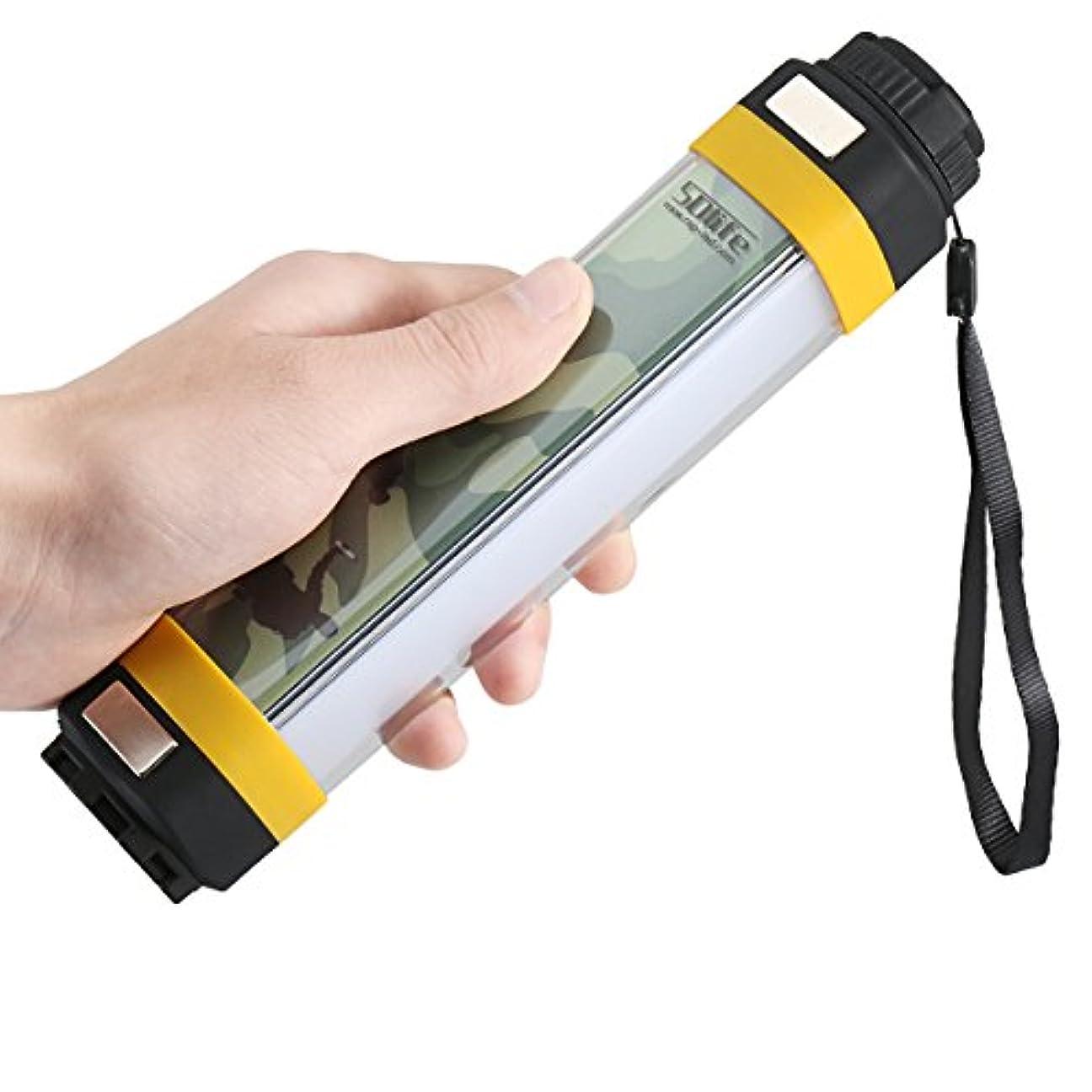 うがいネックレット洪水キャンプ用ランタン、SDlife緊急用ライトポータブル屋外懐中電灯USB充電式キャンプ用ハイキングSOSフラッシングモード