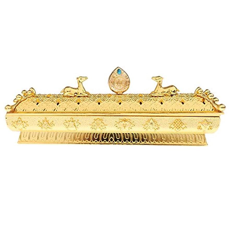 許される賞賛する申請中Fenteer 仏教 香炉 バーナー コーンホルダー ボックス ホーム オフィス テーブル 全3色  - ゴールデン
