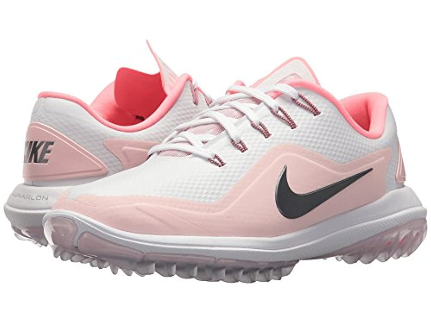 (ナイキ) NIKE レディースゴルフシューズ?靴 Lunar Control Vapor 2 White/Metallic Cool Grey/Arctic Pink/Sunset 10 (27cm) B - Medium