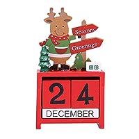 Iusun クリスマスカレンダー クリスマス 卓上装飾 アドベントカウントダウン ベッドルーム デスク 漫画オーナメント ホームオフィス用品 ギフト