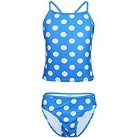 YiZYiF Swimsuit for Girl Kids Polka Dot Tankini Two Pieces Bodysuit Bikini Set Swimwear