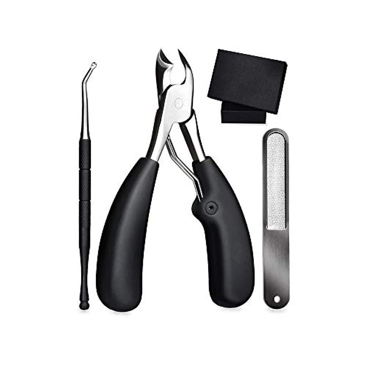 レバーハブ命令的1個 ゾンデと爪やすり付き硬い爪などにも対応 爪切り ニッパー 巻き爪