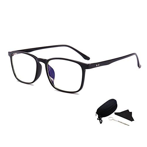 Dyrenson ブルーライトカットメガネ 青色光 紫外線カットレンズ パソコン用 PCメガネ ?射防止 ファッション眼鏡 男女兼用 黒縁 円型 フルフレーム TR90