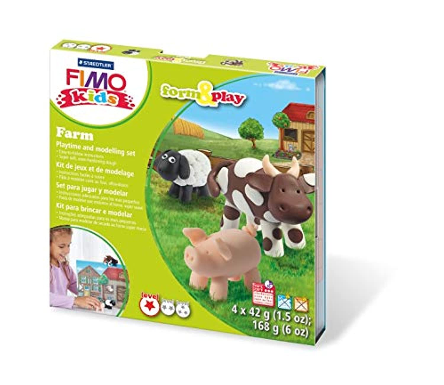 SET FIMO KIDS NAVES ESPACIALES MASCOTAS FORM & PLAY NIVEL 2