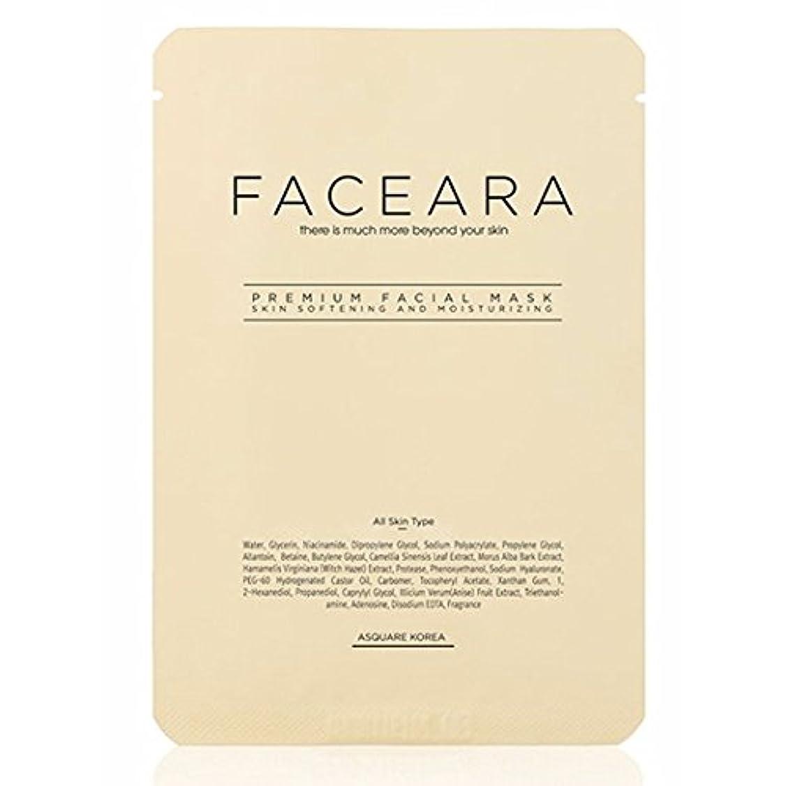 望み現像一部[並行輸入品] FACEARA スクラブ&スーパーモイスチャライザー用プレミアムフェイシャルマスクシート25g 5本セット / FACEARA Premium Facial Mask Sheet for Scrub &...