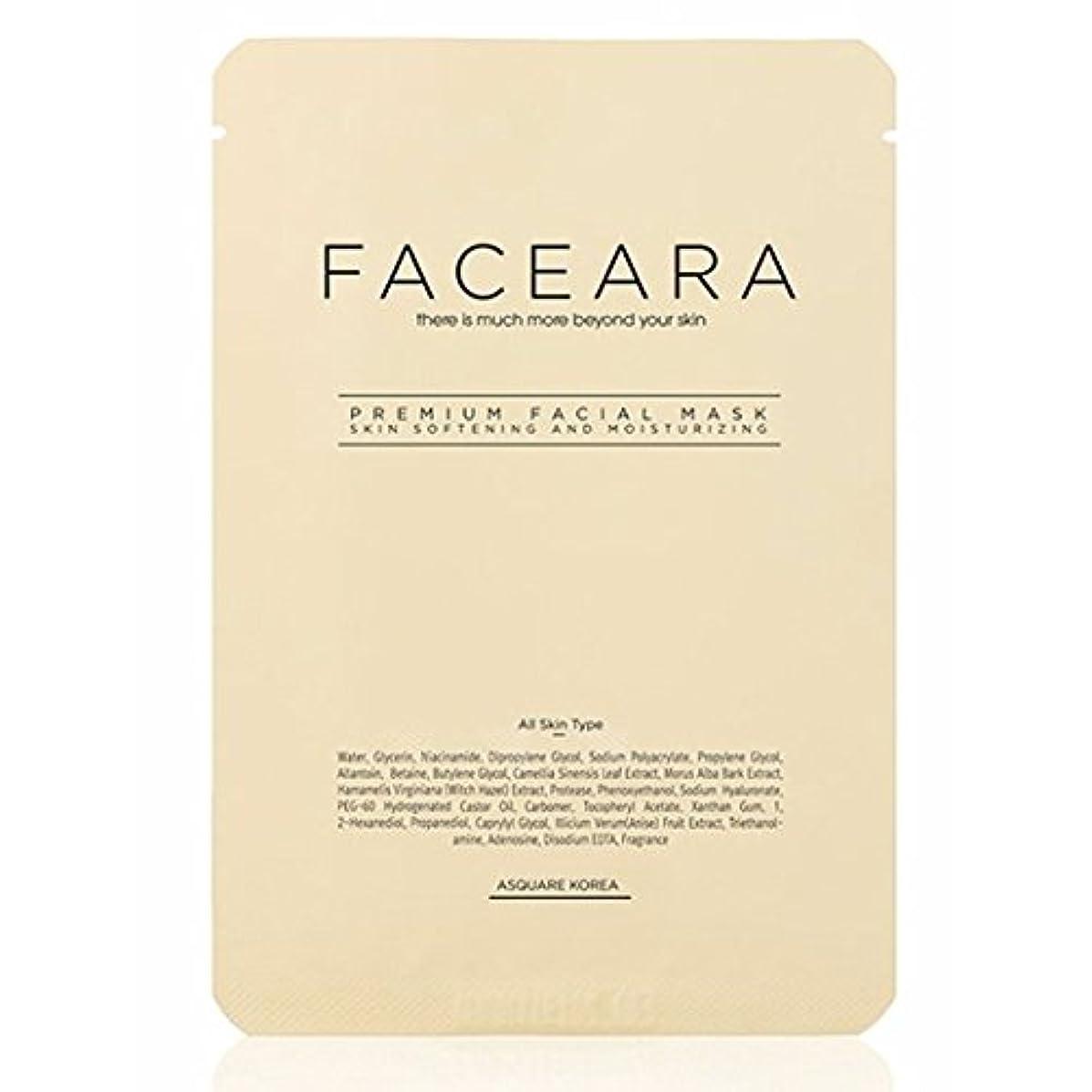 迷路フェミニン多年生[並行輸入品] FACEARA スクラブ&スーパーモイスチャライザー用プレミアムフェイシャルマスクシート25g 10本セット / FACEARA Premium Facial Mask Sheet for Scrub &...