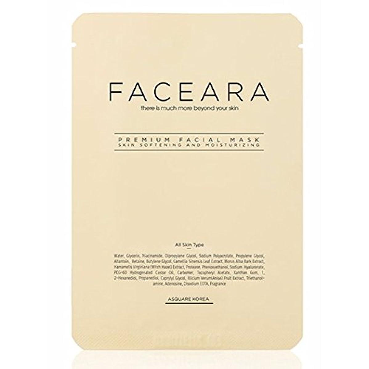 パンダ有害日付付き[並行輸入品] FACEARA スクラブ&スーパーモイスチャライザー用プレミアムフェイシャルマスクシート25g 10本セット / FACEARA Premium Facial Mask Sheet for Scrub &...