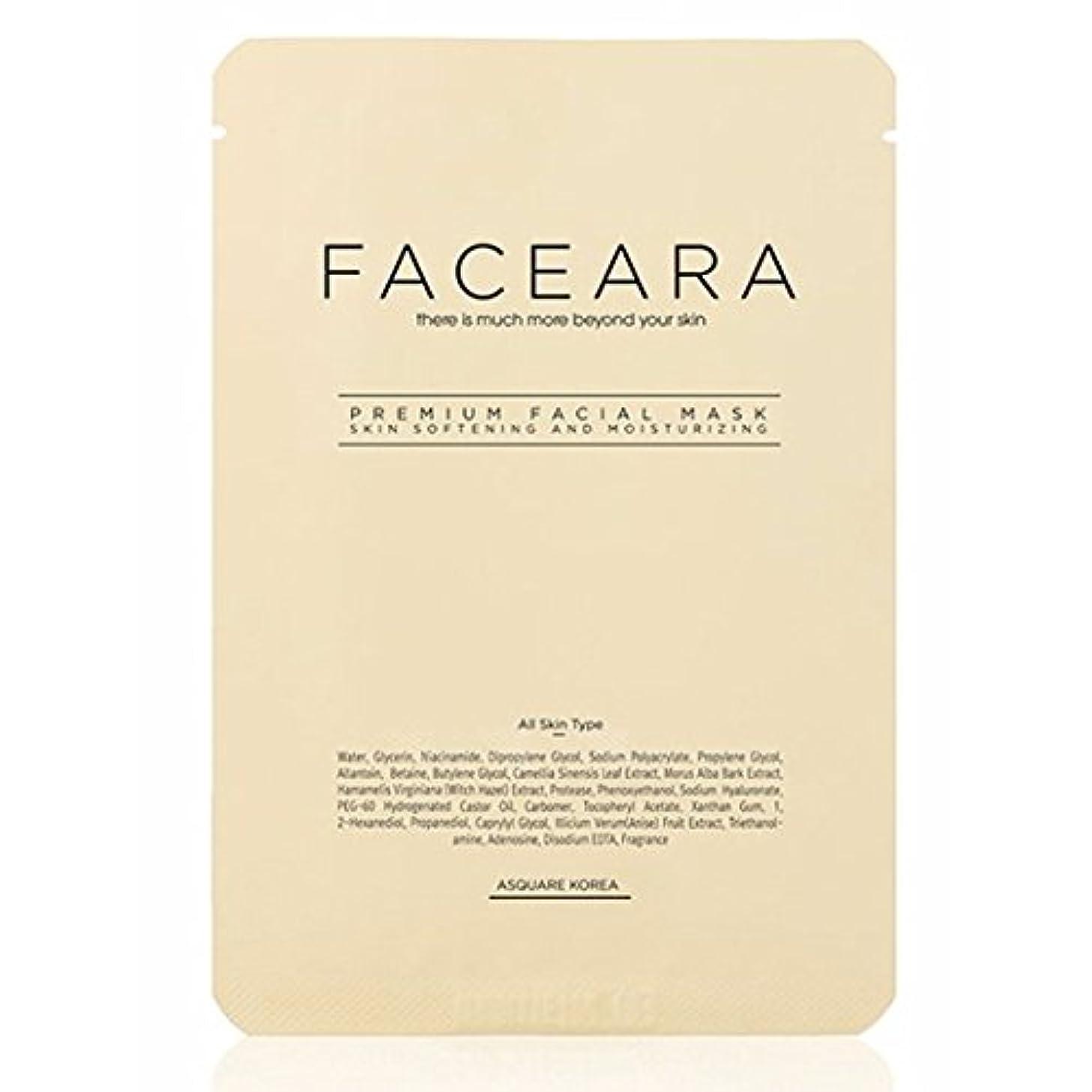 おばさんカビ前提[並行輸入品] FACEARA スクラブ&スーパーモイスチャライザー用プレミアムフェイシャルマスクシート25g 5本セット / FACEARA Premium Facial Mask Sheet for Scrub &...