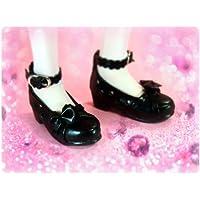 ドレスに合うドール靴*ブラック*ミニドルフィードリーム*MDDサイズ対応ドールシューズ-76034618