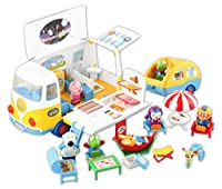 [Pororo] ポロロレッツゴー キャンピングカー 幼児おもちゃ車の子供用玩具 海外直送品 (Let's go Camping Car Infant Toy car Child bus toy )